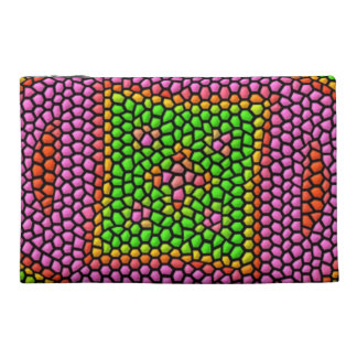 Bright colored mosaic tile travel accessories bags