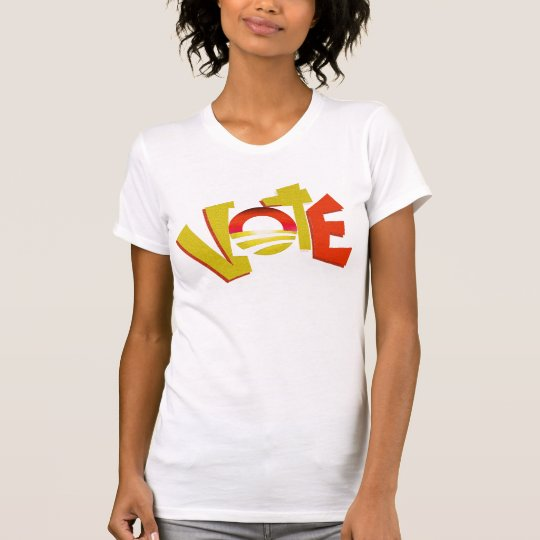 Bright Colored Obama Circle Vote T-shirt 2012