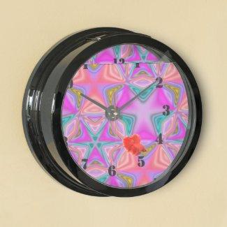 Bright colored pattern aquavista clocks