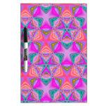 Bright colored pattern Dry-Erase board