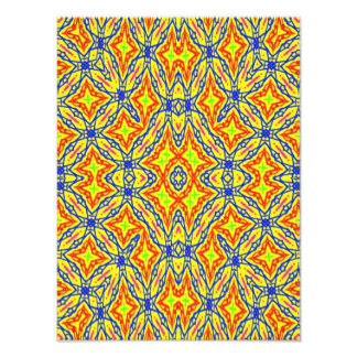 Bright colored pattern photo print