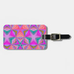 Bright colored pattern tag for bags