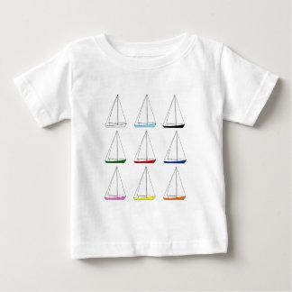 Bright Colored Sailboats Baby T-Shirt