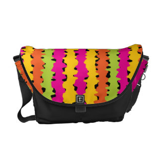 Bright Colored Squiggle Lines Messenger Bag
