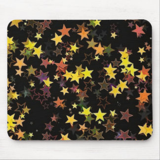 Bright Colored Stars Mouse Pad