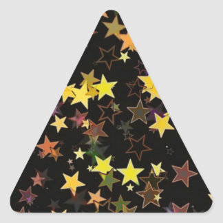 Bright Colored Stars Triangle Sticker