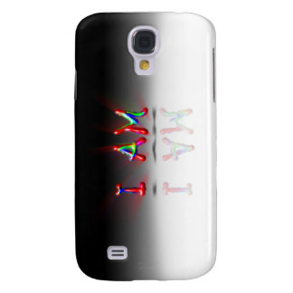 BRIGHT COLORED WORDS I EXIST REFLECTION GALAXY S4 COVER
