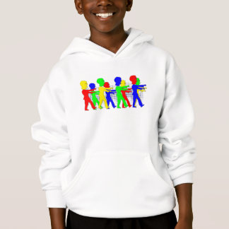 Bright colored Zombie's going to the Office. Hoodie
