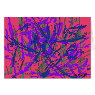 Bright Colorful Abstract Art blank note card