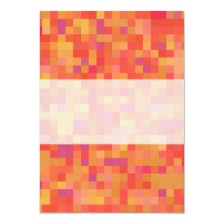 Bright Colorful Abstract design. 5x7 Paper Invitation Card
