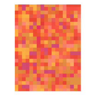 Bright Colorful Abstract design. Postcard