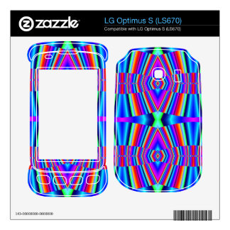Bright Colorful Abstract Skin For LG Optimus S