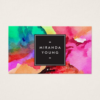 Watercolor business cards templates zazzle for Artist business card examples