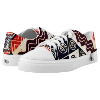 Bright, colorful African tribal sneakers, gym shoe