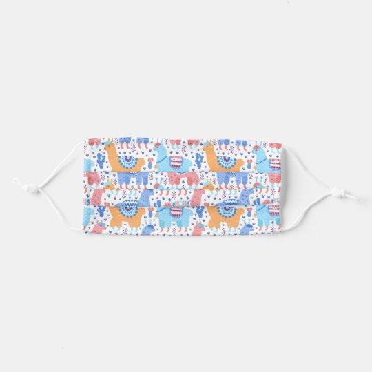 Bright Colorful Alpaca Pattern Cloth Face Maskcom