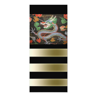 Bright Colorful Asian Dragon Art Personalized Announcements