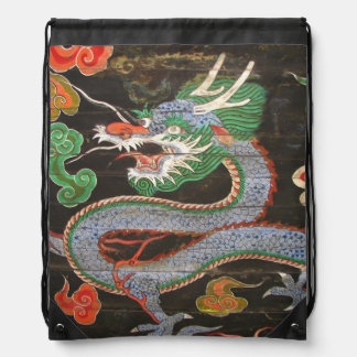 Bright Colorful Asian Dragon Art Backpack