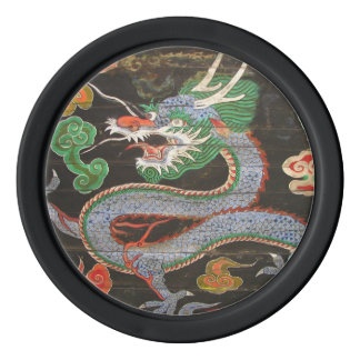 Bright Colorful Asian Dragon Art Set Of Poker Chips