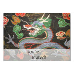 Bright Colorful Asian Dragon Fantasy Art 5x7 Paper Invitation Card