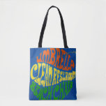 Bright Colorful Authentic Beach Tote Bag