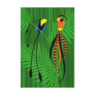 Bright Colorful Birds of Paradise Canvas Print