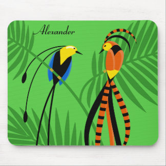Bright Colorful Birds of Paradise Mouse Pad