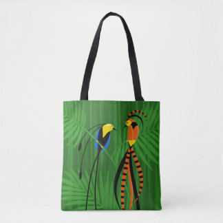 Bright Colorful Birds of Paradise Tote Bag