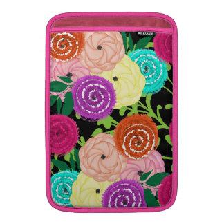 Bright Colorful Blooming Flowers MacBook Sleeve