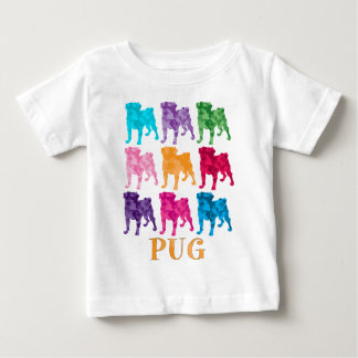 Bright Colorful Camouflage Pugs Baby T-Shirt