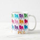Bright Colorful Camouflage Pugs Mugs