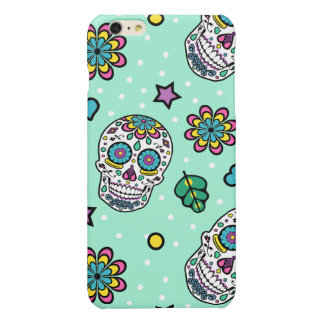 Bright Colorful Candy Sugar Skull Glossy iPhone 6 Plus Case