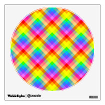 Bright Colorful Check Pattern. Wall Decal
