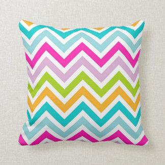 Bright Colorful Chevron Stripes Pattern Throw Pillow
