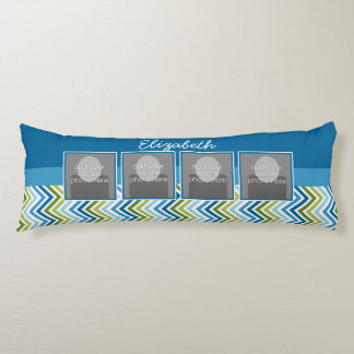 Bright Colorful Chevrons Instagram Photo Collage Body Pillow
