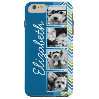 Bright Colorful Chevrons Instagram Photo Collage Tough iPhone 6 Plus Case