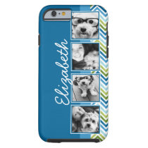 Bright Colorful Chevrons Instagram Photo Collage Tough iPhone 6 Case
