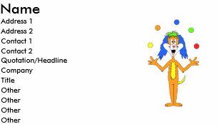 Clown business cards templates zazzle bright colorful clown dog cartoon business card colourmoves