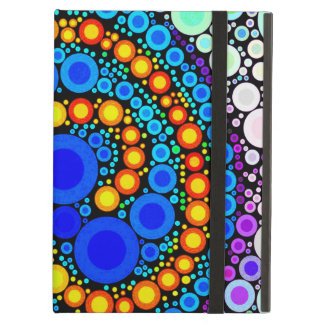 Bright Colorful Concentric Circles Swirl Pop Art iPad Case