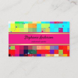 Bright Colorful Confetti Business Card