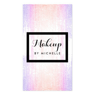 Bright Colorful Confetti Dots Makeup Artist Double-Sided Standard Business Cards (Pack Of 100)