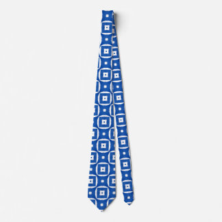 Bright Colorful Construction Paper Geometric Art Neck Tie