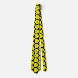 Bright Colorful Construction Paper Geometric Art Tie