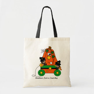 Bright Colorful Cute Halloween Fairy Witches Tote Bag