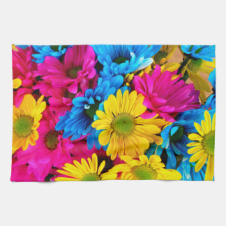 Bright Colorful Daisies Hand Towel