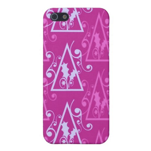 Bright Colorful Decorative Christmas Tree Gifts Case For iPhone 5