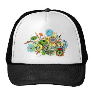 bright colorful design trucker hat