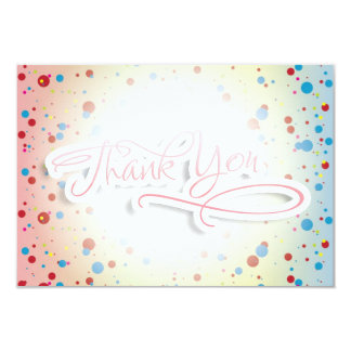 Bright Colorful Dots Glowing Center Thank You Card Custom Invitation