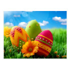 Bright Colorful Easter Egg design Postcard