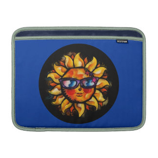 Bright Colorful Expressionist Sun with Sunglasses Sleeve For MacBook Air