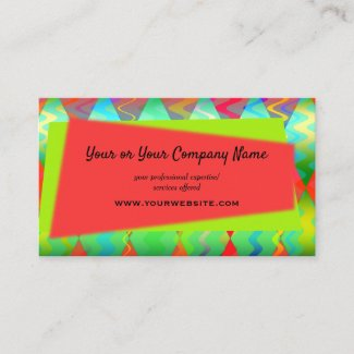 Bright Colorful Eye Catching Business Card